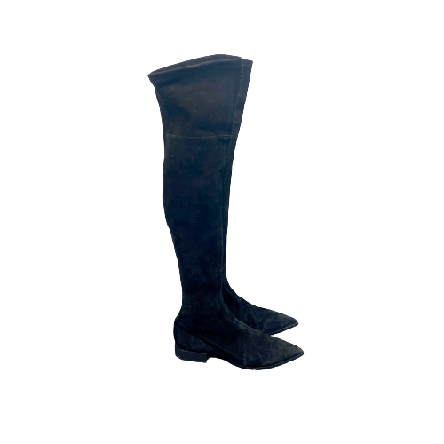 Sigerson Morrison Suede Over the Knee Boots- Right