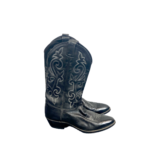 Justin Western Stitch Cowboy Boots- Right