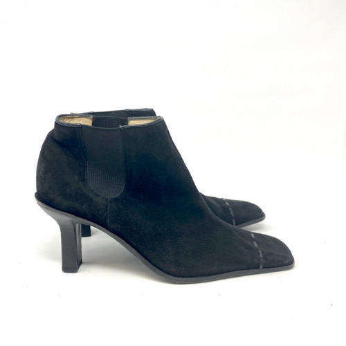 Chanel Suede Square Toe Booties- Right