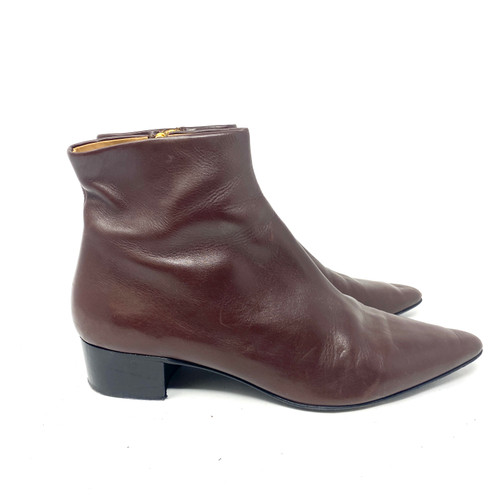 The Row Pointed Toe Booties- Right