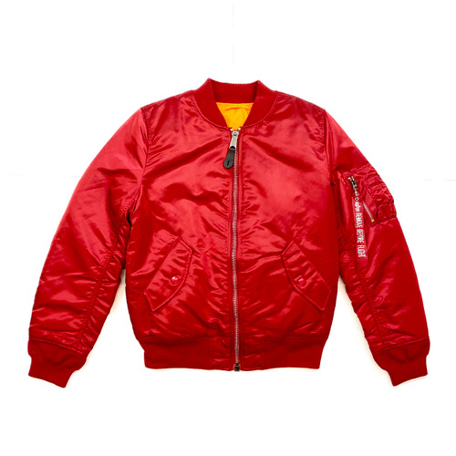 Alpha Industries MA-1W Commander Jacket- Red Front