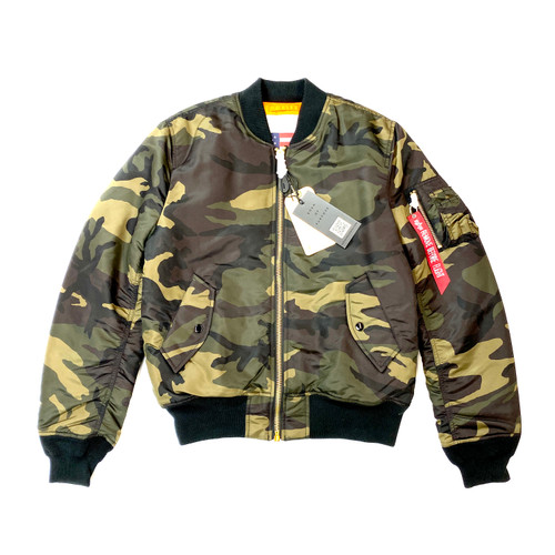 Alpha Industries MA-1W Commander Jacket- Camo Front