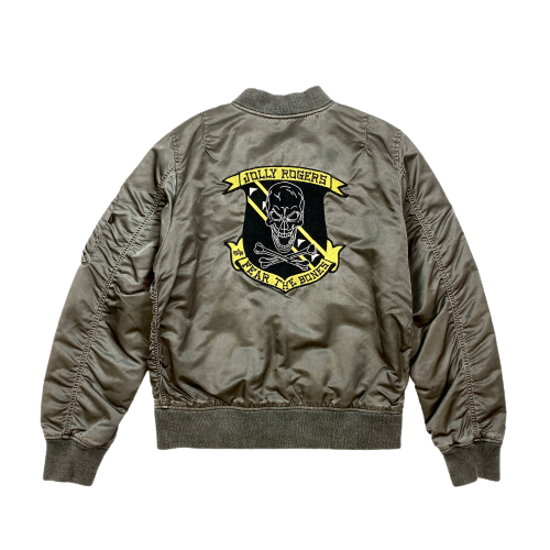 Alpha Industries L-2B Fear The Bones Flight Jacket- Back