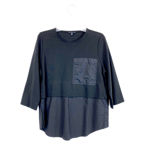 COS Knit Woven Pocket Top- Front