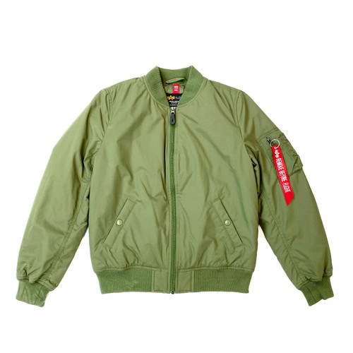 Alpha Industries Nylon Bomber Jacket- Front