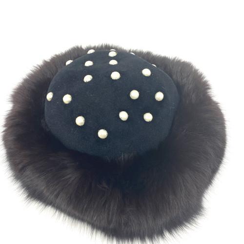 Flemington Furs Fur Trimmed Hat- Front