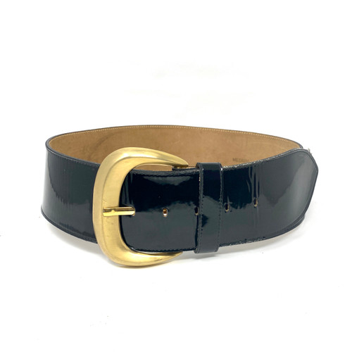 Bergdorf Goodman Wide Waist Belt- Front
