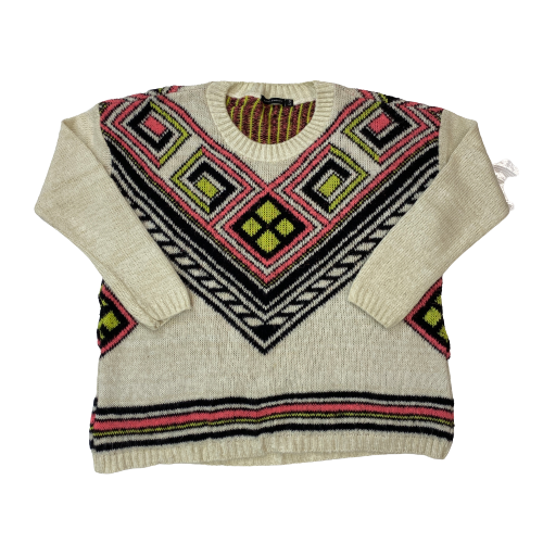 QED London Patterned Knit Sweater- Thumbnail