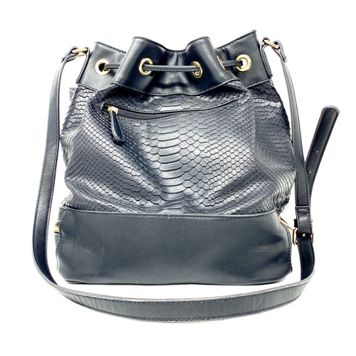 Gail Labelle Drawstring Bucket Bag- Thumbnail