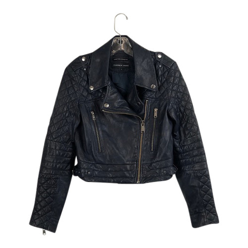 Andrew Marc Leather Jacket- Front