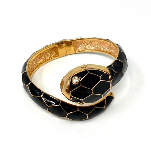 Textured Snake Watch Bangle- Thumbnail