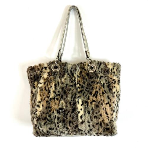B. Makowsky Furry Handbag- Front