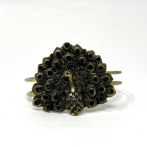 Bejeweled Peacock Cuff- Thumbnail