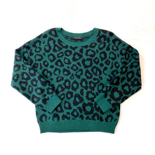 BCBG MaxAzria Leopard Knit Pullover- Front