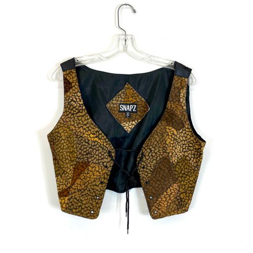 Snapz Vintage Printed Corset Style Vest- Front