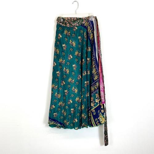 Elephant Print Wrap Skirt- Front