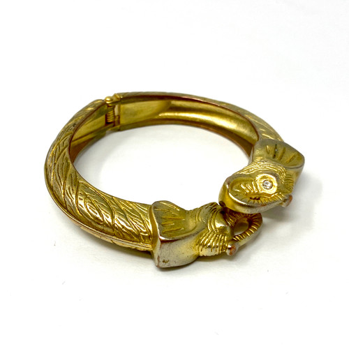 Elephant Face Hinged Bangle- Thumbnail