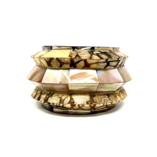 Faux Mother of Pearl Inlay Cuff- Thumbnail