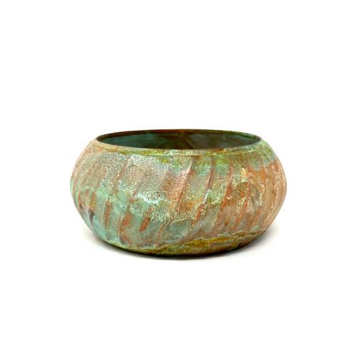 Curved Copper Bangle Bracelet- Thumbnail