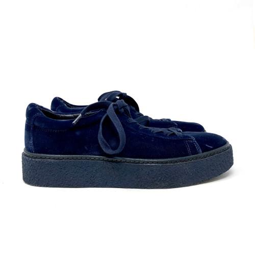 Vince Velvet Platform Sneakers- Right