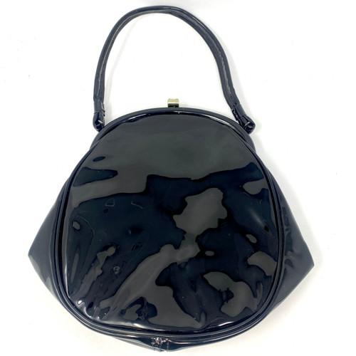 Vintage Patent Leather Frame Bag- Front