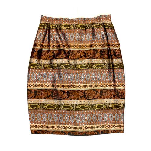 Vintage Mary McFadden Brocade Skirt- Front