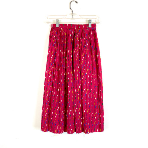 Vintage Peria Pleated Midi Skirt- Front