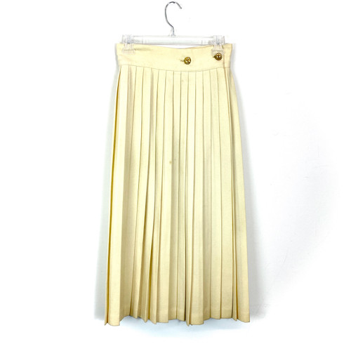Vintage Rene Portier Pleated Wool Skirt- Front