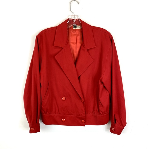 Vintage Cropped Blouson Jacket- Front