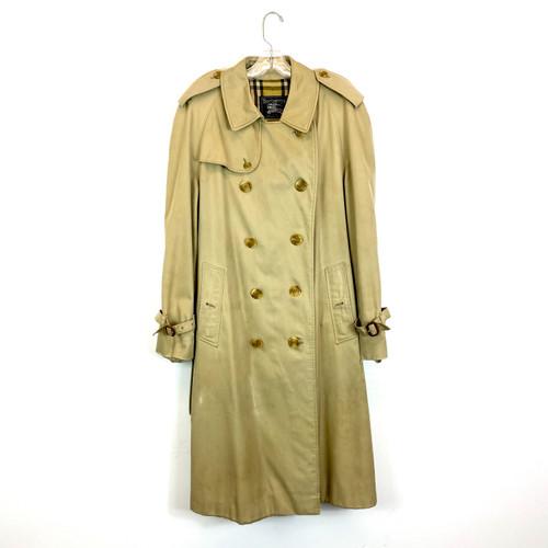 Vintage Burberry Tie Waist Trench Coat- Front