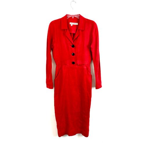 Vintage Cathy Hardwick Linen Dress- Front