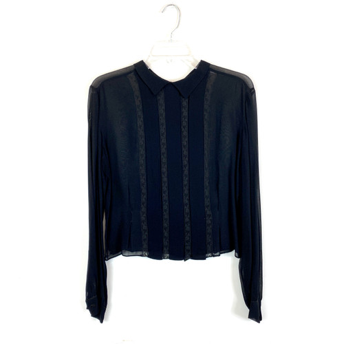 Vintage Pleated Collared Top- Front