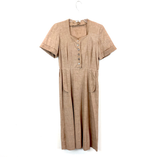 Vintage Sweetheart Rustic Summer Dress- Front