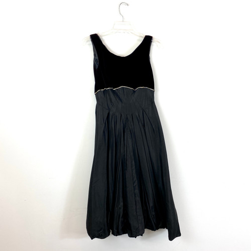 Vintage Velvet Empire Party Dress- Front
