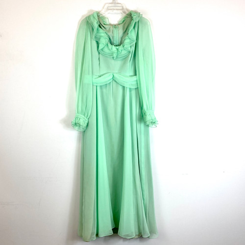 Vintage Frothy Seafoam Dress- Front