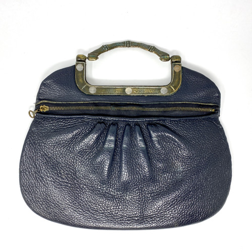 Vintage Bamboo Handle Clutch- Front