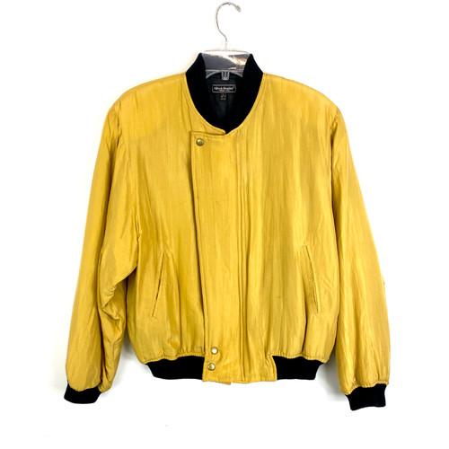 Vintage Alfredo Bendini Golden Bomber Jacket- Front