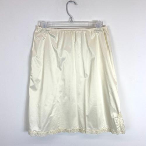 Vintage Thigh Slit Slip Skirt- Front