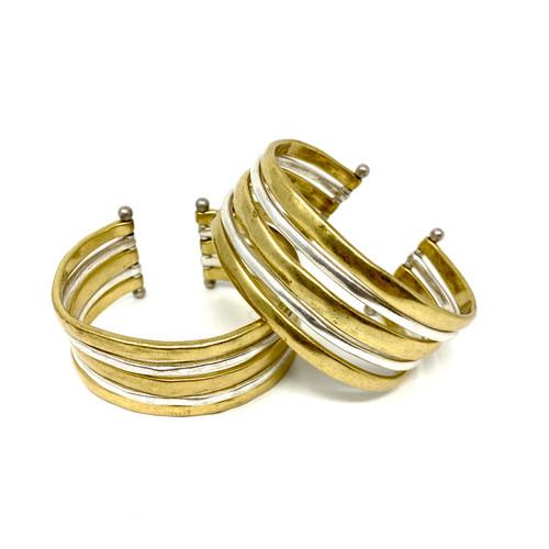 Lucky Brand Two Tone Cuff Bracelet- Thumbnail