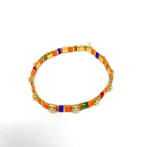 Shashi Multicolored Stretch Bracelet- Thumbnail