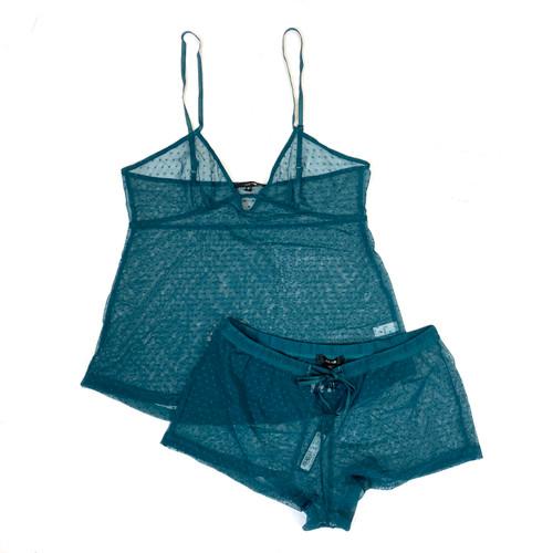 Joe's Jeans Sea Mist Swiss Dot Print Pajama Set- Thumbnail