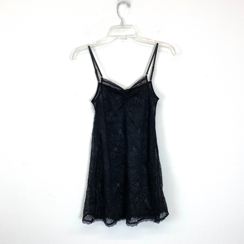 Joe's Jeans Black Floral Print Nightgown- Front
