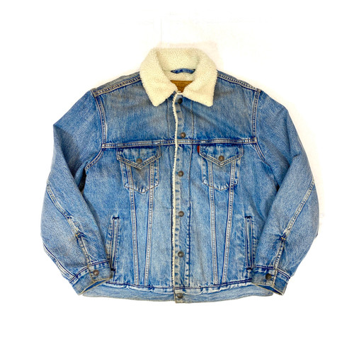 Vintage Levi's Sherpa Lined Denim Jacket- Thumbnail