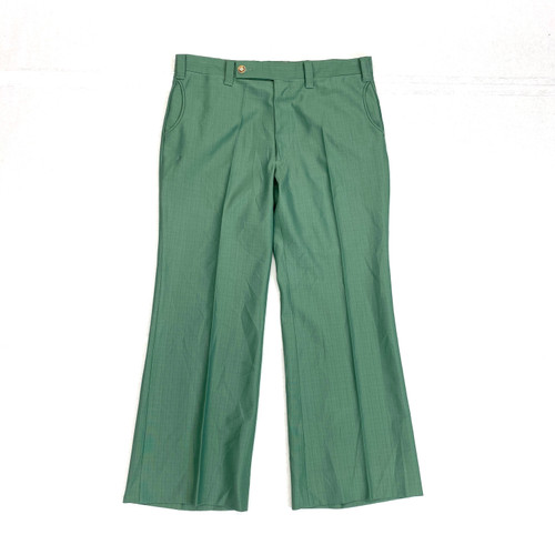Vintage Woven Jade Flares- Front