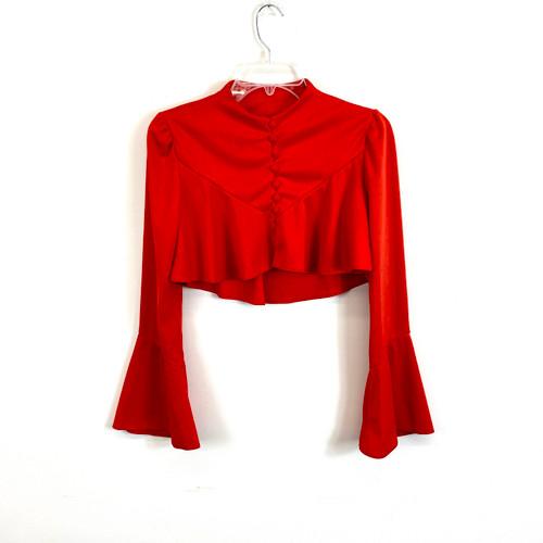 Vintage Flare Sleeve Bolero- Front