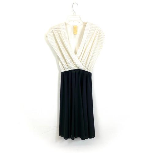 Vintage Plisse Disco Dress- Front