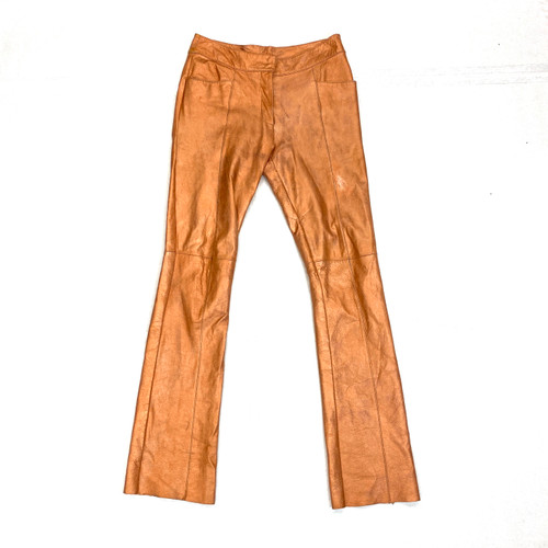 Vintage Copper Leather Pants- Front