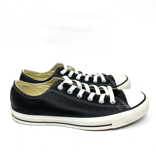Converse Black Leather Low Top- Right