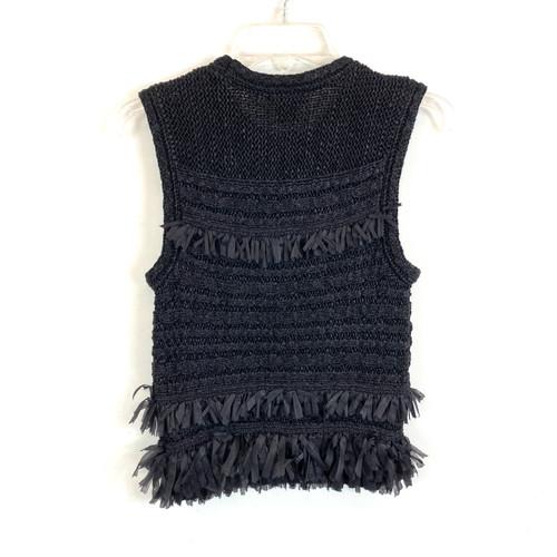 Club Monaco Fringe Sleeveless Sweater- Back