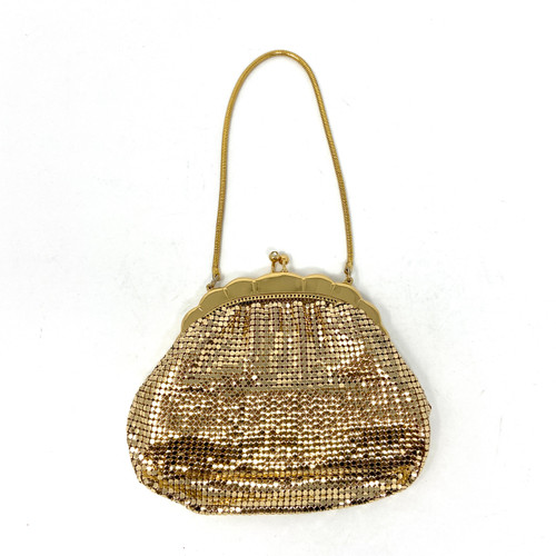 Vintage Glomesh Scalloped Chain Mail Purse- Thumbnail